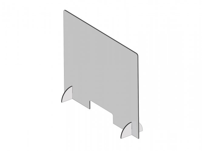 Lightweight Protective Plexiglass Shield Guard for Counters - Point of Sale Safety Guard