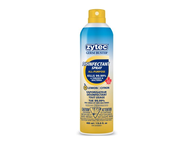 Zytec Germ Buster Lemon Scented All-Purpose Disinfectant Spray